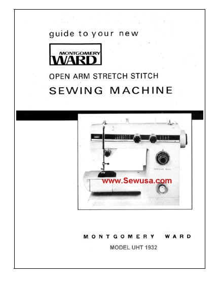 Montgomery Wards Sewing Machine Instruction And Service Manuals Fascinating Montgomery Ward Sewing Machine Manual